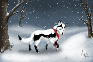 Through the Snow by VexiWolf