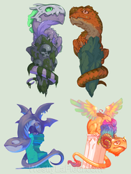 Drakes / Dragons (Adoptables) by WestlyLaFleur