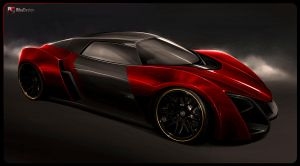 Marussia B2 red by RibaDesign