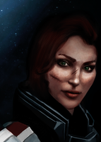 Commander Shepard by Withoutafuss