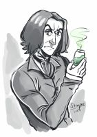 Snape doodle by staypee