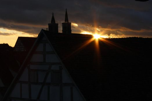 Sunset in a medieval City by Age3111