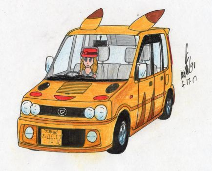Pikachu-themed car by MatthewGo707