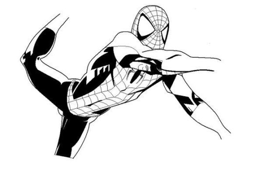 spiderman draw MS paint by LinkitOx