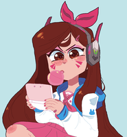 D.Va by DINKY-INK