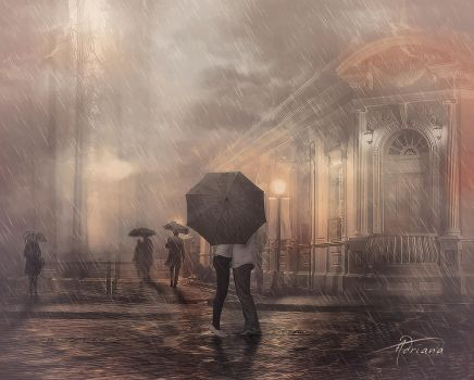 Under the rain by Adriana-Madrid