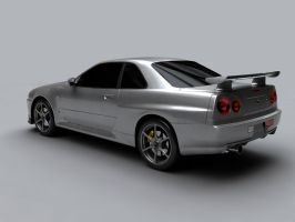 r34 3rd rebuild rear by syncore