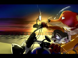 Ride on Moto Nick and Judy by zigrock001