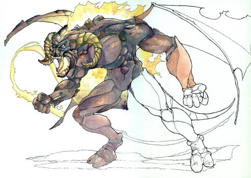Balrog of Moria - unfinished by witchking08