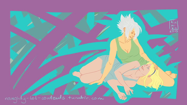 Riven and Lux wallpaper by kumiko5