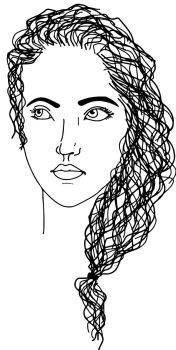 Lineart Portrait - Free to Colour by KM-SDM