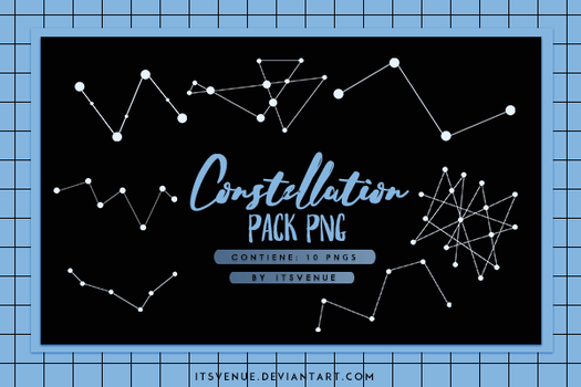 CONSTELLATION PACK PNG. by itsvenue