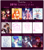 2016 Summary of Art by M-ar
