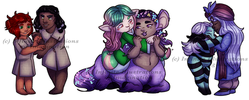 COMMISSION Sweet and Petite COMMISSION by I3-byUsagi