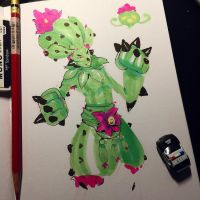 Day 1 Cactus Fighter by sstrikerr