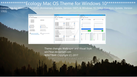 Ecology Mac OS Theme for Windows 10 by WIN7TBAR