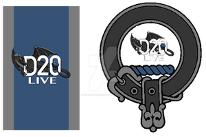 D20 Live Standard banner and Clan crest by Chroniton8990
