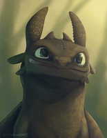 Portrait of a Dorky Dragon by JackTheVulture