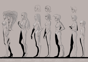 Tenno girls - Line Up by DemiKiev