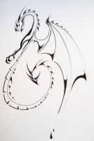 Tribal Dragon2 by Elliesmeria