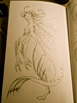 alien humanoid sketch by TheSphinxThinks