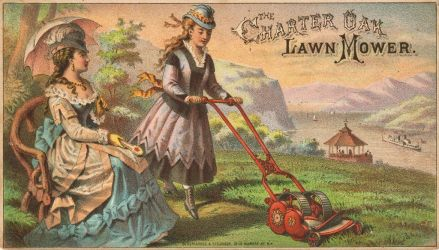 Victorian Advertising - Cutting the Lawn by Yesterdays-Paper