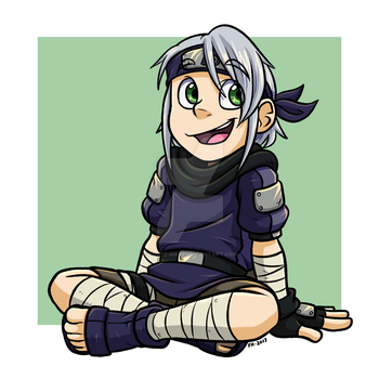 Naruto: Sitting Kaede by forte-girl7