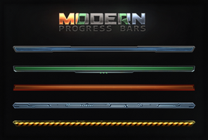 Modern Progress Bars by Evil-S