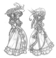 More mourning dresses by Seitou