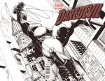 DD drawn on Daredevil #1 blank variant-SOLD