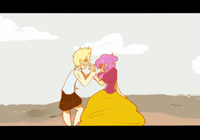 Playing in the Sand by gh0stbun