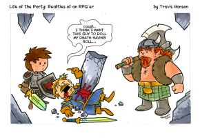 Would you roll my saving throw.... RPG Comic by travisJhanson