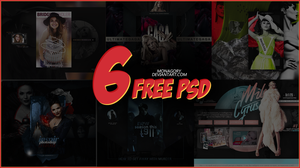 PSD PACK (part 1) monagory [6 FREE PSD] by monagory