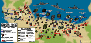 Polandball Map of D-Day Landings by kensethfan