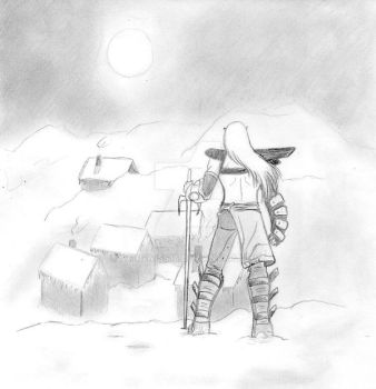 Kain_under_the_snow by sangwiss16