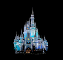Castle Front full view by WDWParksGal-Stock