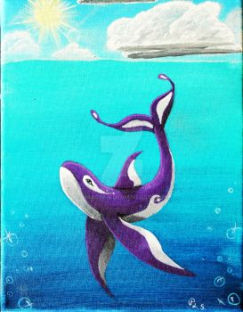 Whale Painting~ by HASBEAN