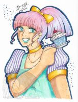 FOR SALE OOAK Traditional Marker Drawing Cupcake by kuroitenshi13