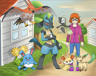Me as a Pokemon Trainer by SusanLucarioFan16