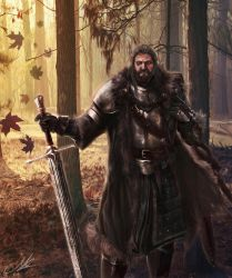 Lord Rickard Stark by Mike-Hallstein