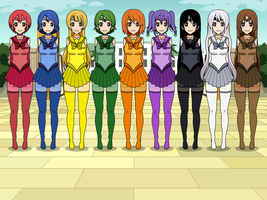 Color Wheel Senshi by TheWalrusclown