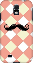 Checked and Mustache Samsung Galaxy Cases by PhotoshopGirl29