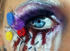 Dead Doll Make up + Speedtutorial by PixieCold