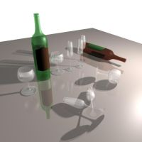 Bottles and Glasses by aquifer
