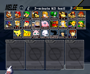 Super Smash Bros. Melee - Fixed Character Select by ConnorRentz