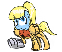 Samus Pony by FlavinBagel