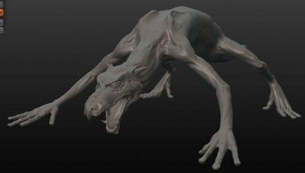 WIP concept creature study by hijavines