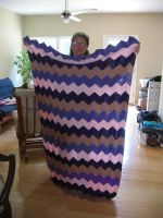 my first crocheted afghan by crochetty-spinner