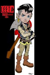 Leeta: BARDbarian gnome by wonderfully-twisted