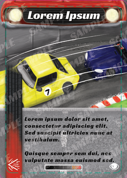 Race Car Game Card Sample by mike6432